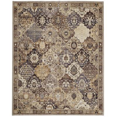 Patchwork Gray 8 ft. x 10 ft. Medallion Area Rug
