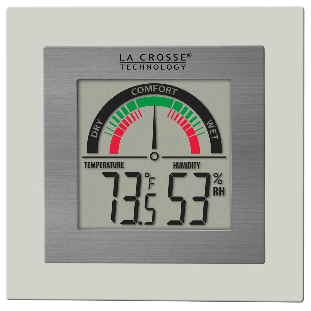 Temperature Humidity Meter : La crosse technology comfort meter with temp and humidity