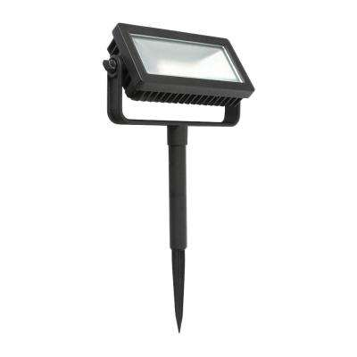 Low Voltage Black Outdoor Integrated LED Landscape Flood Light with 3 levels of intensity