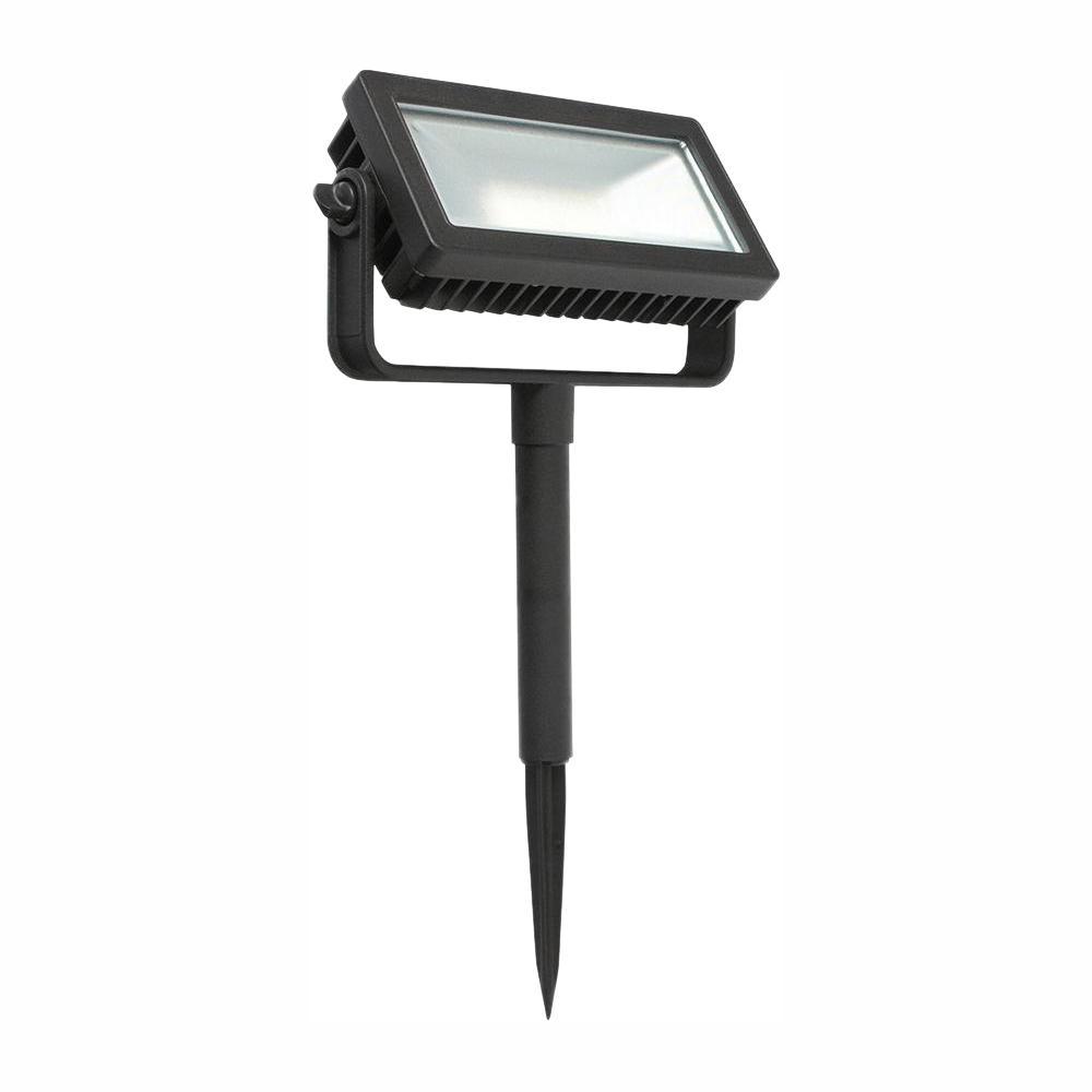 Low Voltage Black Outdoor Integrated LED Landscape Flood Light with 3 levels of intensity