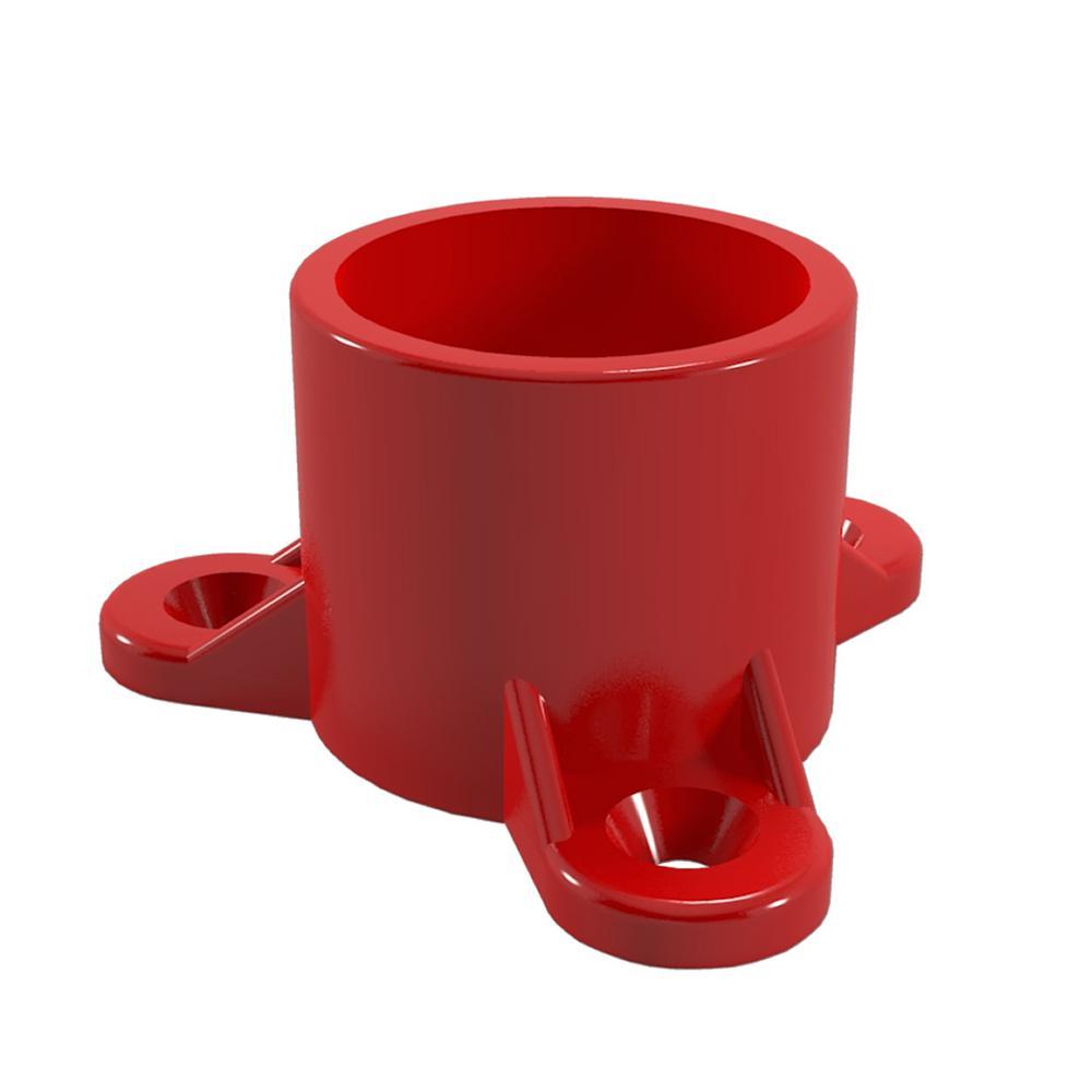 FORMUFIT 1 in. Furniture Grade PVC Table Screw Cap in Red...