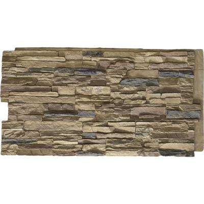 48 in. x 24 in. Canyon Ridge Stacked Stone Stonewall Faux Stone Siding Panel