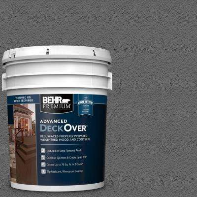 5 gal. #SC-131 Pewter Textured Solid Color Exterior Wood and Concrete Coating
