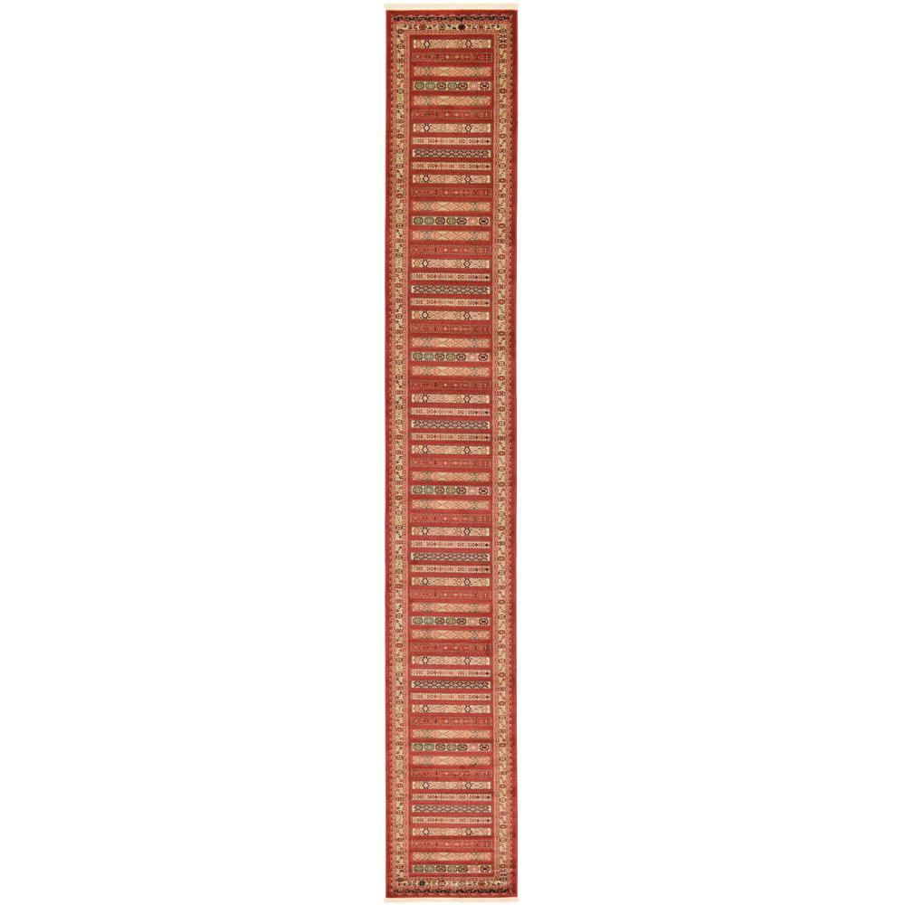 Unique Loom Fars Pasadena Rust Red 2' 7 x 19' 8 Runner Rug