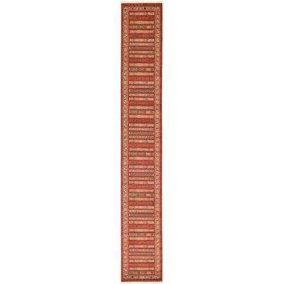 Fars Pasadena Rust Red 2' 7 x 19' 8 Runner Rug