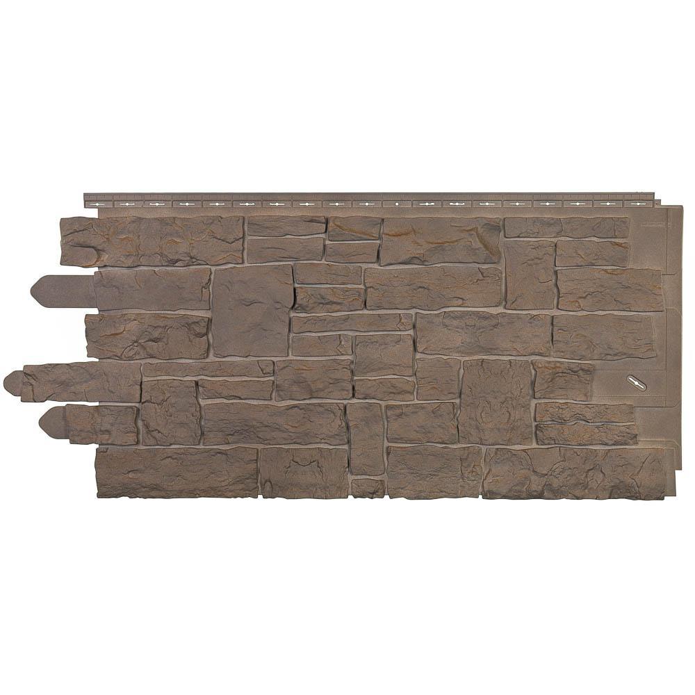 Novik Stacked Stone 45 in. x 20-1/4 in. Polymer Moka Siding (10-Pack)