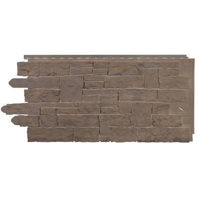Stacked Stone 45 in. x 20-1/4 in. Polymer Moka Vinyl Siding (10-Pack)