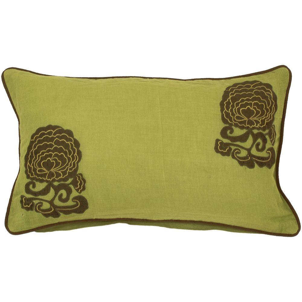 Decorative Down Pillows : Artistic Weavers FloraB 13 in. x 20 in. Decorative Down Pillow-FloraB-1320D - The Home Depot