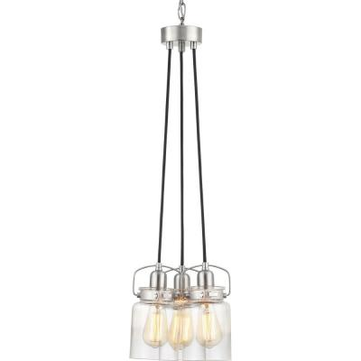 Calhoun 3-Light Brushed Nickel Chandelier with Shade
