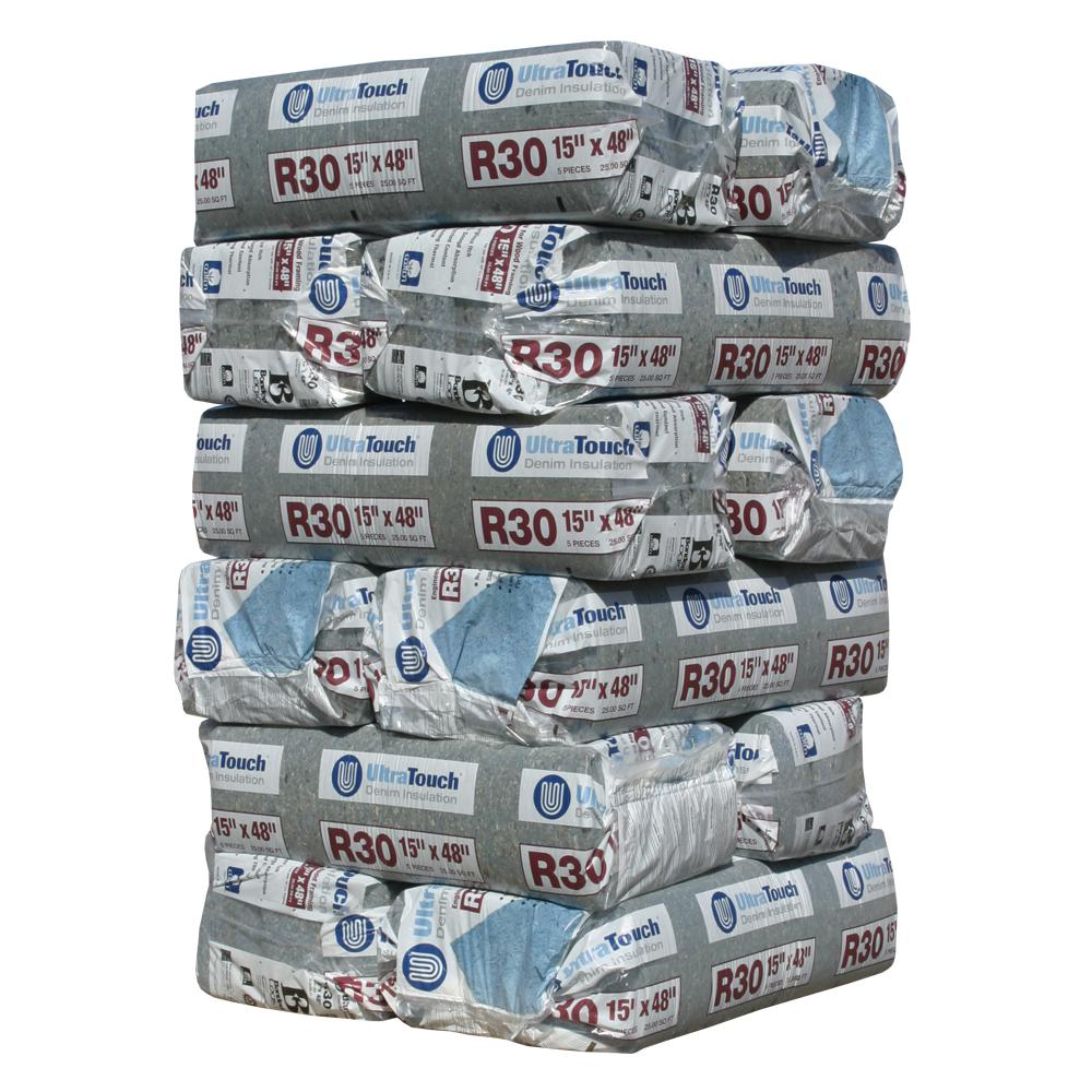 UltraTouch R-30 Denim Insulation Batts 15 in  x 48 in  (12-Bags)