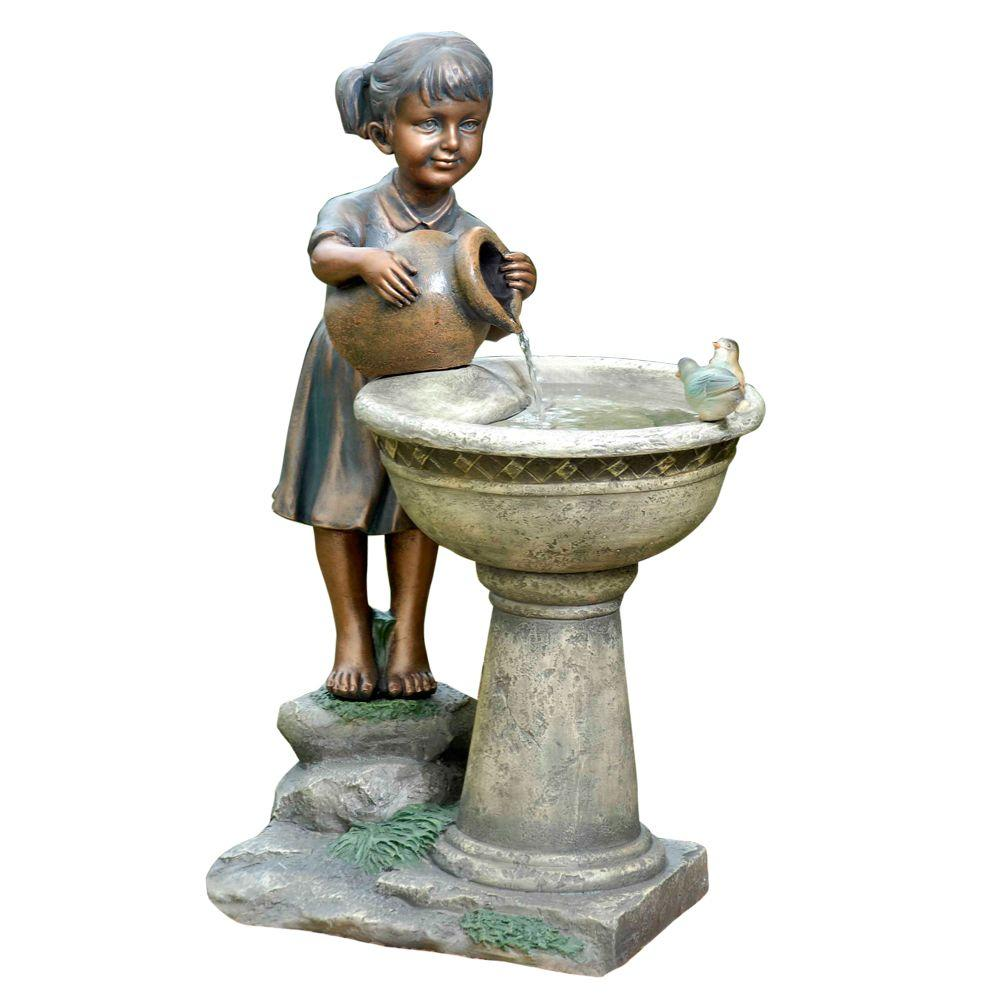 Fountain Cellar Versando Bird Bath Outdoor Water Fountain