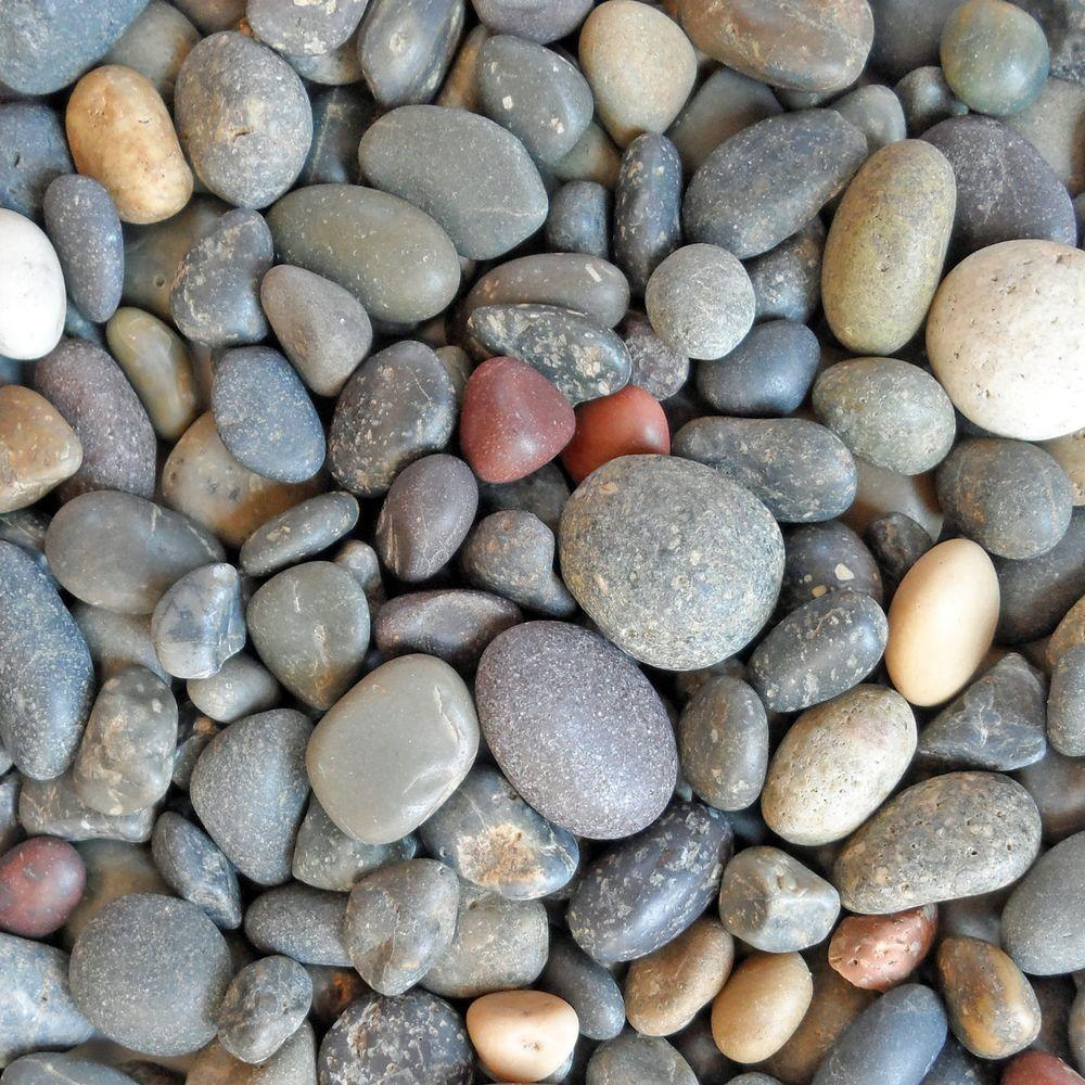 Small River Rock Landscape Rocks Hardscapes The Home Depot