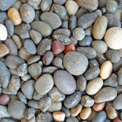 0.50 cu. ft. 1/4 in. - 1/2 in. Unpolished Mixed Mexican Beach Pebble Bag