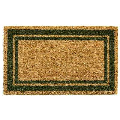 Sage Green Border Door Mat 18 in. x 30 in.