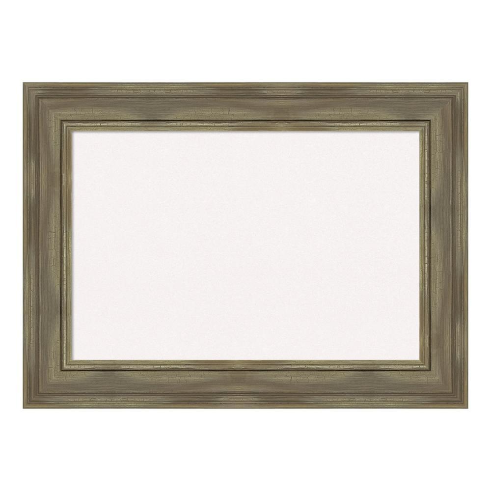 Amanti Art Alexandria Greywash Framed White Cork Memo Board DSW4094453