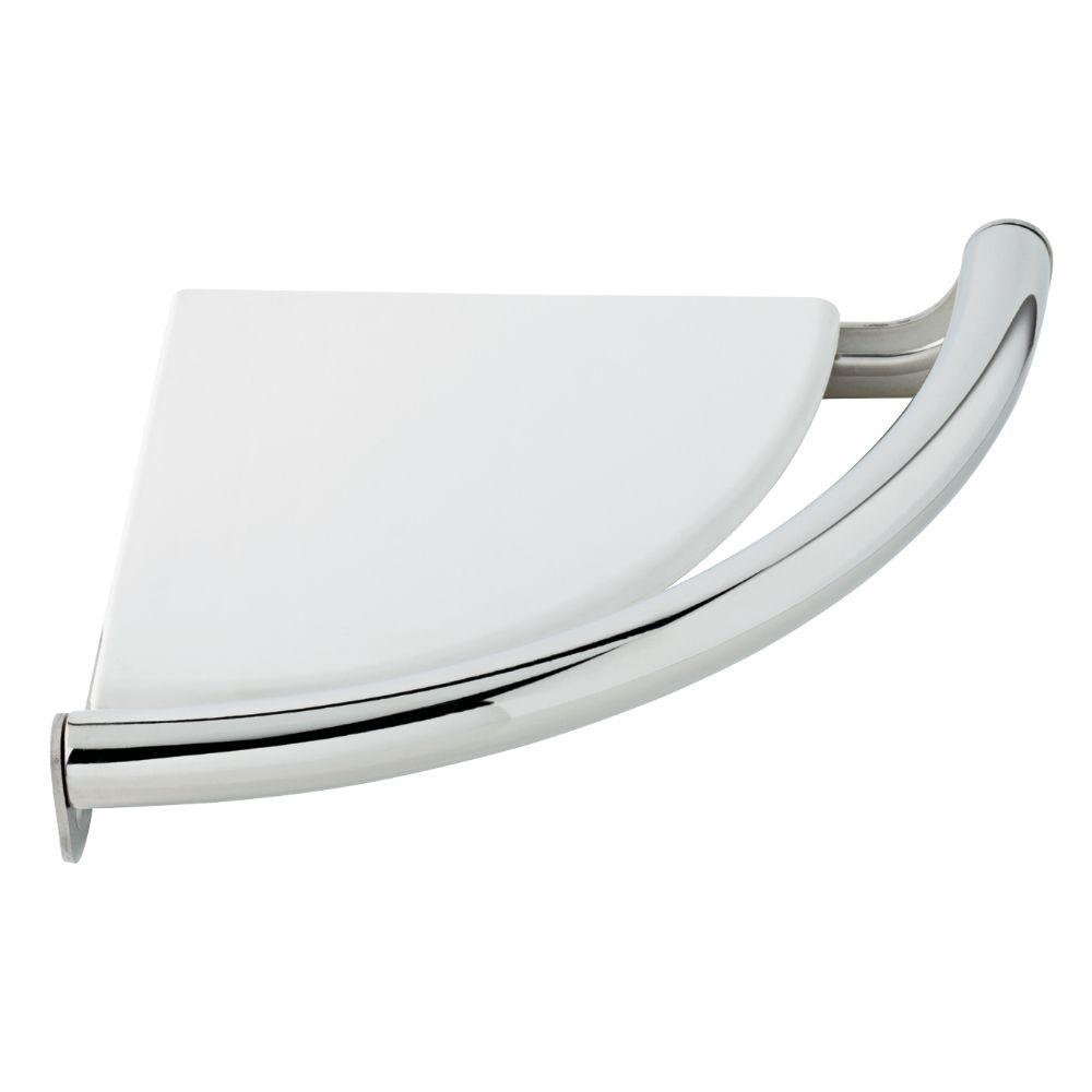 Delta Traditional Corner Shelf 8-1/2 in. x 7/8 in. Concealed Screw Assist Bar in Chrome