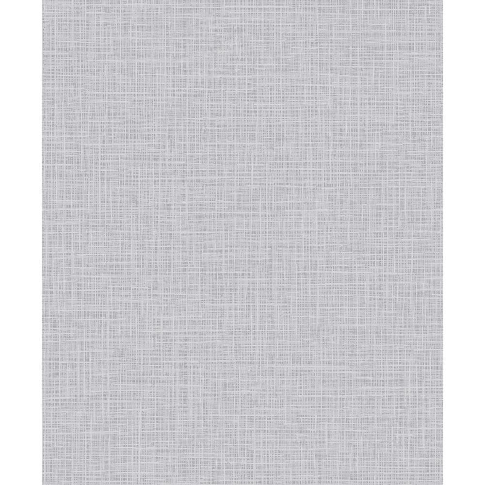 Seabrook Designs Glisten Metallic Silver and Gray Weave Wallpaper AW71807