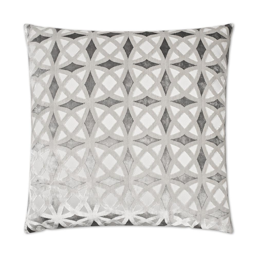 Kraus Platinum Geometric Down 24 in. x 24 in. Throw Pillow