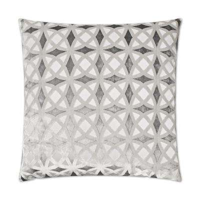 Kraus Platinum Feather Down 24 in. x 24 in. Standard Decorative Throw Pillow