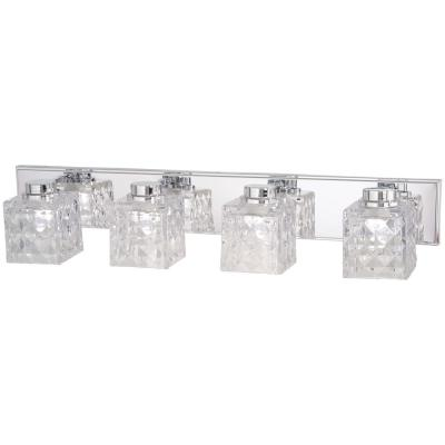 Glorietta 100-Watt Equivalence Chrome Integrated LED Bath Light