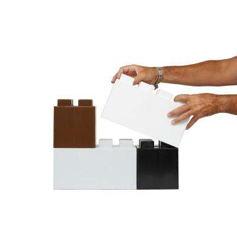 12 in. x 18 in. White Polypropylene Building Blocks (18-Pack of Full Size Blocks)