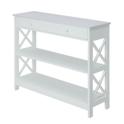 Oxford White 1-Drawer Console Table