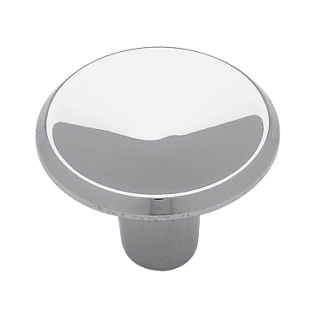 Liberty 1 in. Polished Chrome Concave Round Cabinet Knob