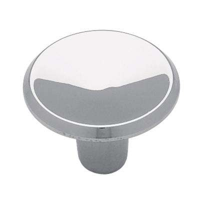 Concave 1 in. (26mm) Polished Chrome Round Cabinet Knob