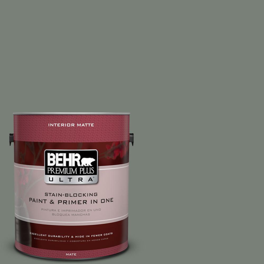 BEHR Premium Plus Ultra Home Decorators Collection 1 gal. #HDC-AC-22 Cedar Forest Flat/Matte Interior Paint
