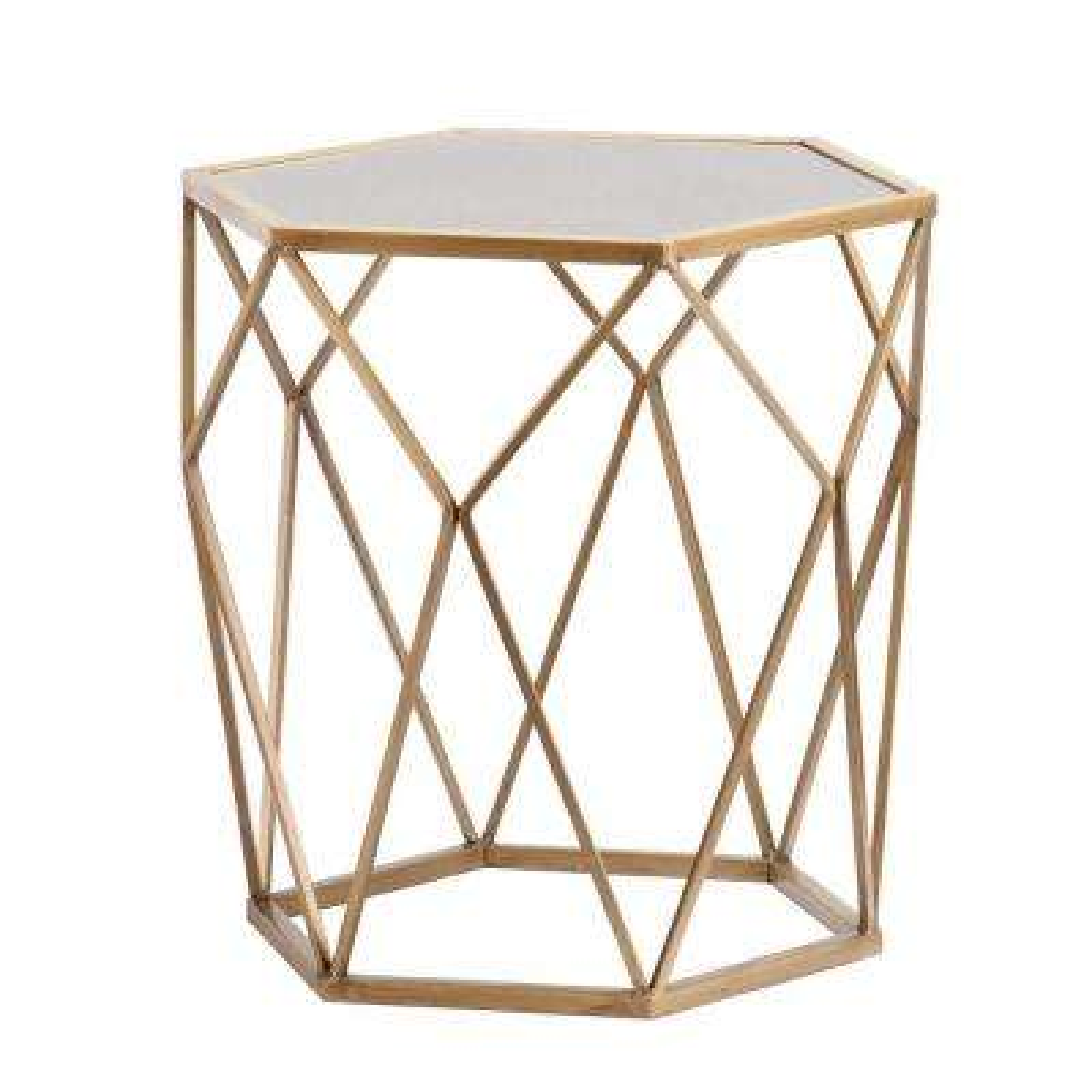Alyse Metallic Gold End Table