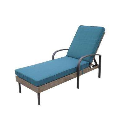 Corranade Wicker Chaise Lounge with Charleston Cushions