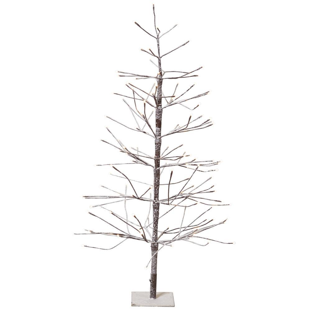 Martha Stewart Living 4 ft. Pre-Lit LED Snowy Brown ...