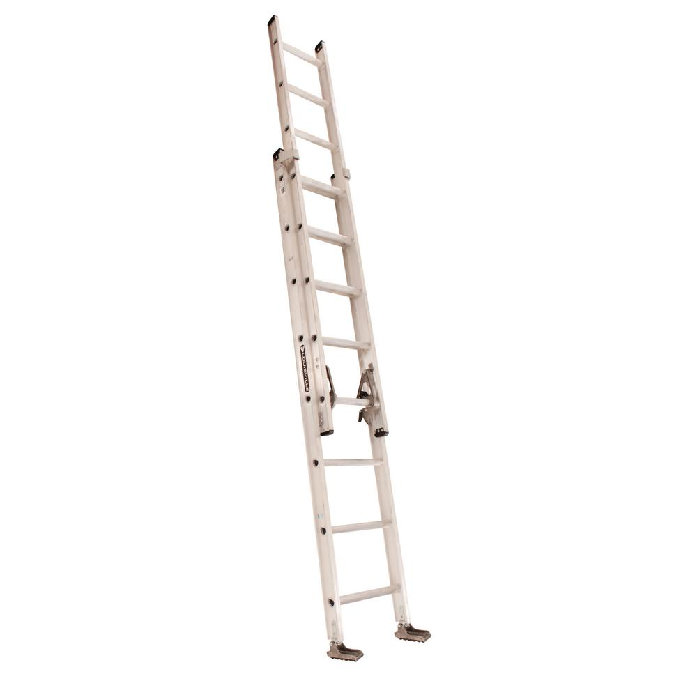 Werner 16 Ft Aluminum Extension Ladder With 200 Lb Load