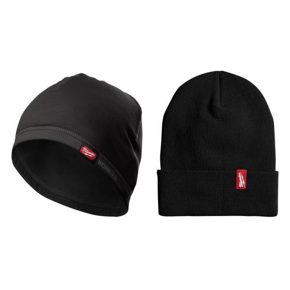 Workskin Mid-Weight Hard Hat Liner with Black Beanie