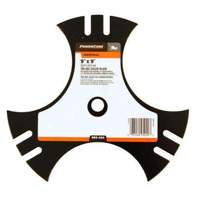 9 in x 9 in. Universal Tri-Arc Edger Blade with 1/2 in. Connection