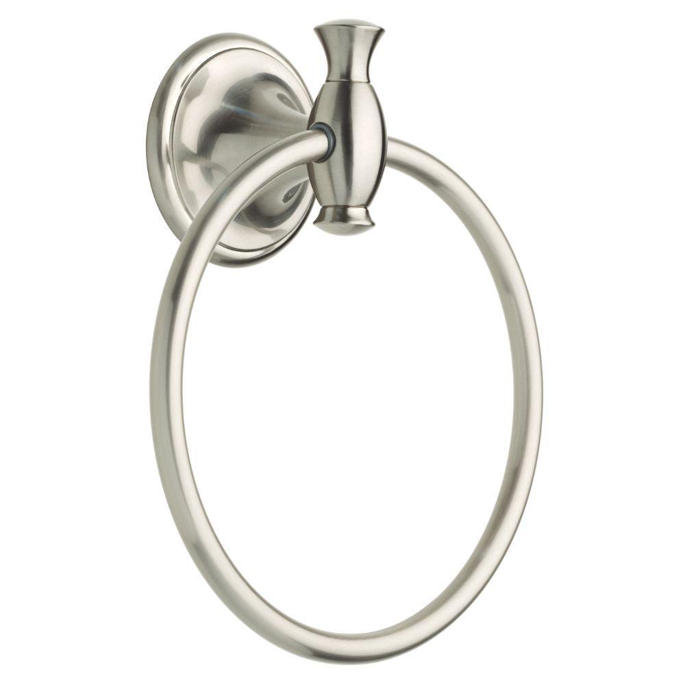 Meridian Towel Ring in SpotShield Brushed Nickel