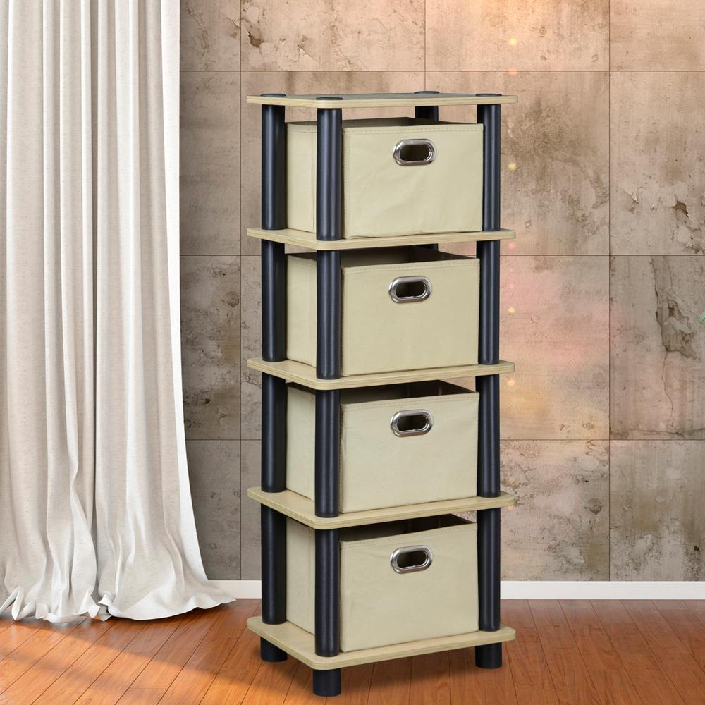 LACi Oak and Black Storage Chest