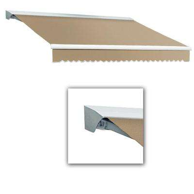 10 ft. Destin with Hood AT Model Right Motor Retractable Awning (10 ft. W x 8 ft. D) in Linen Pin