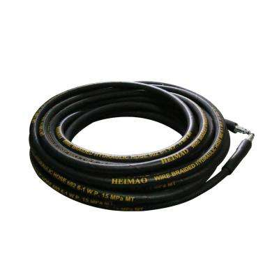 4000 PSI 50 ft. Wire Braided Hydraulic High Pressure Washer Hose