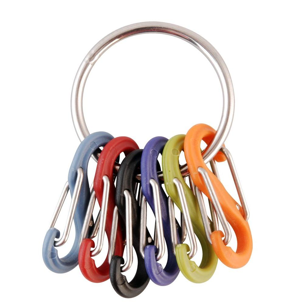 0751df3fdf Nite Ize Key Ring with Carabiners-KRG-03-11 - The Home Depot