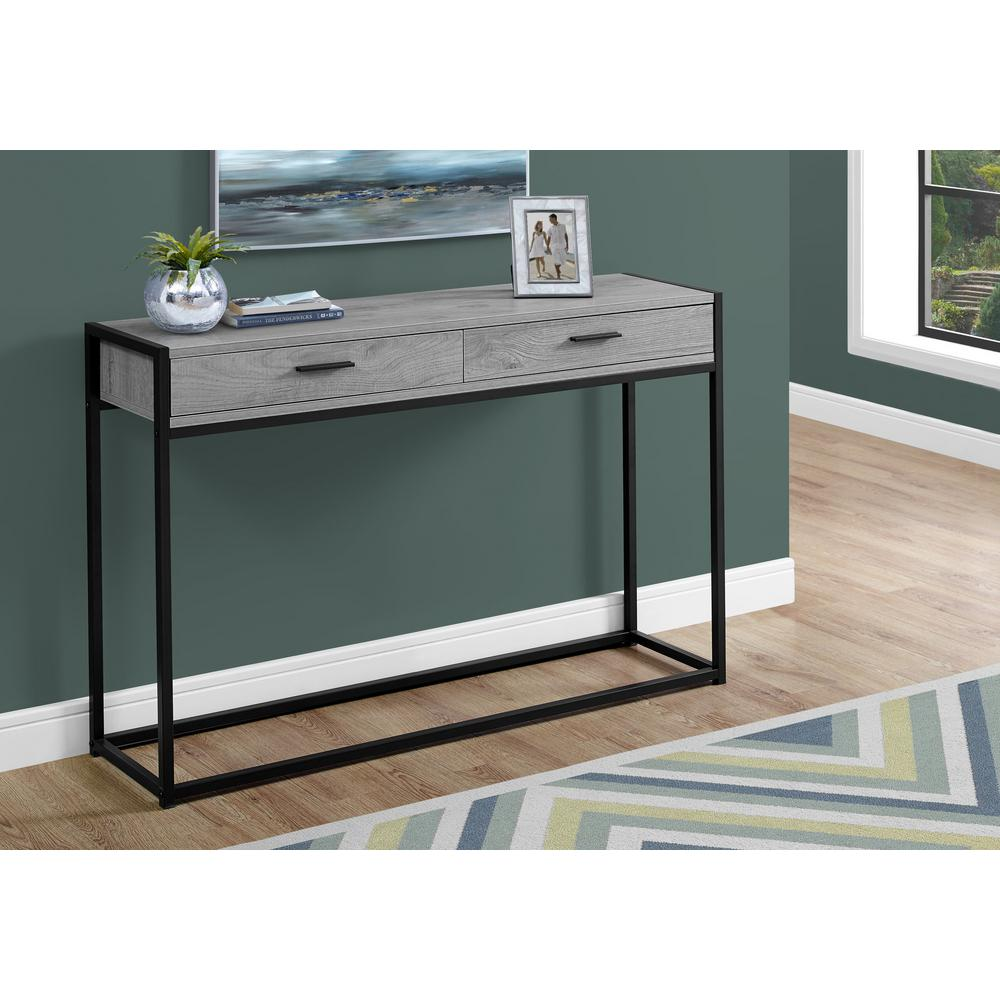 Black Metal Console Table Hd3510 The Home Depot