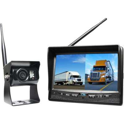 Wireless Backup Camera System with 7 in. Dual Screen Display