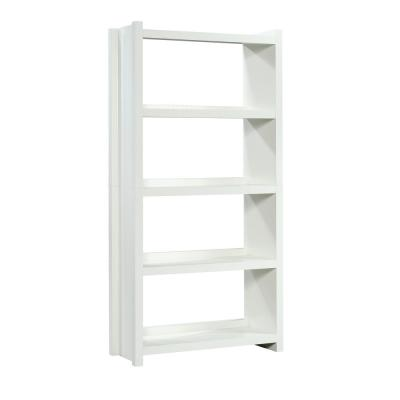 68.35 in. White Wood 5-shelf Accent Bookcase with Open Back