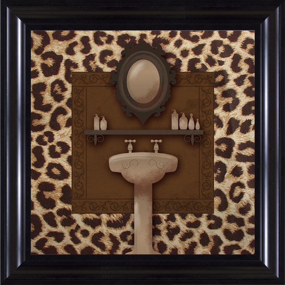 """15-1/4 in. x 15-1/4 in. """"Leopard Bath B"""" Framed Wall Art"""