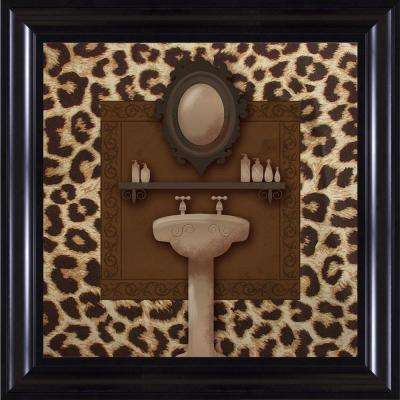 "15-1/4 in. x 15-1/4 in. ""Leopard Bath B"" Framed Wall Art"