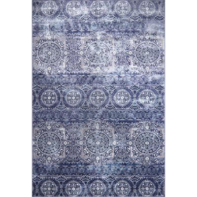 Bazaar Crystal Blue 7 ft. 10 in. x 10 ft. 2 in. Indoor Area Rug