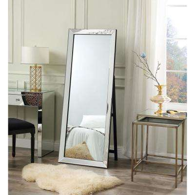 Oversized Mirrored Glass Beveled Glass Classic Mirror (63 in. H X 1.5 in. W)