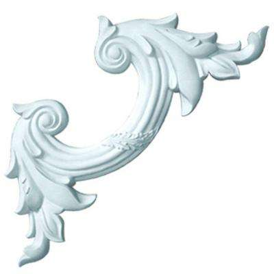 1 in. x 14-1/4 in. x 14-1/4 in. Reed and Acanthus Leaf Polyurethane Panel Moulding