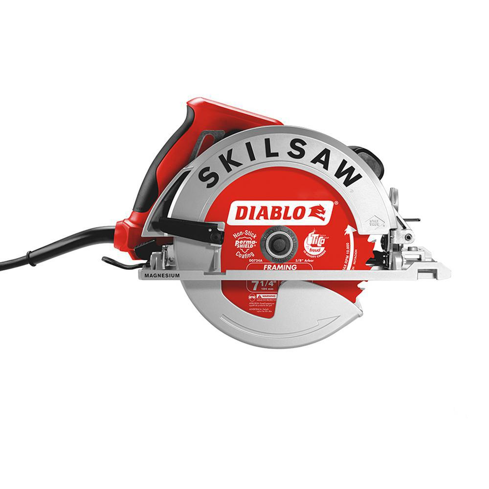 SKILSAW 15 Amp Corded Electric 7-1/4 in. Magnesium SIDEWINDER Circular Saw with 24-Tooth Diablo Carbide Blade