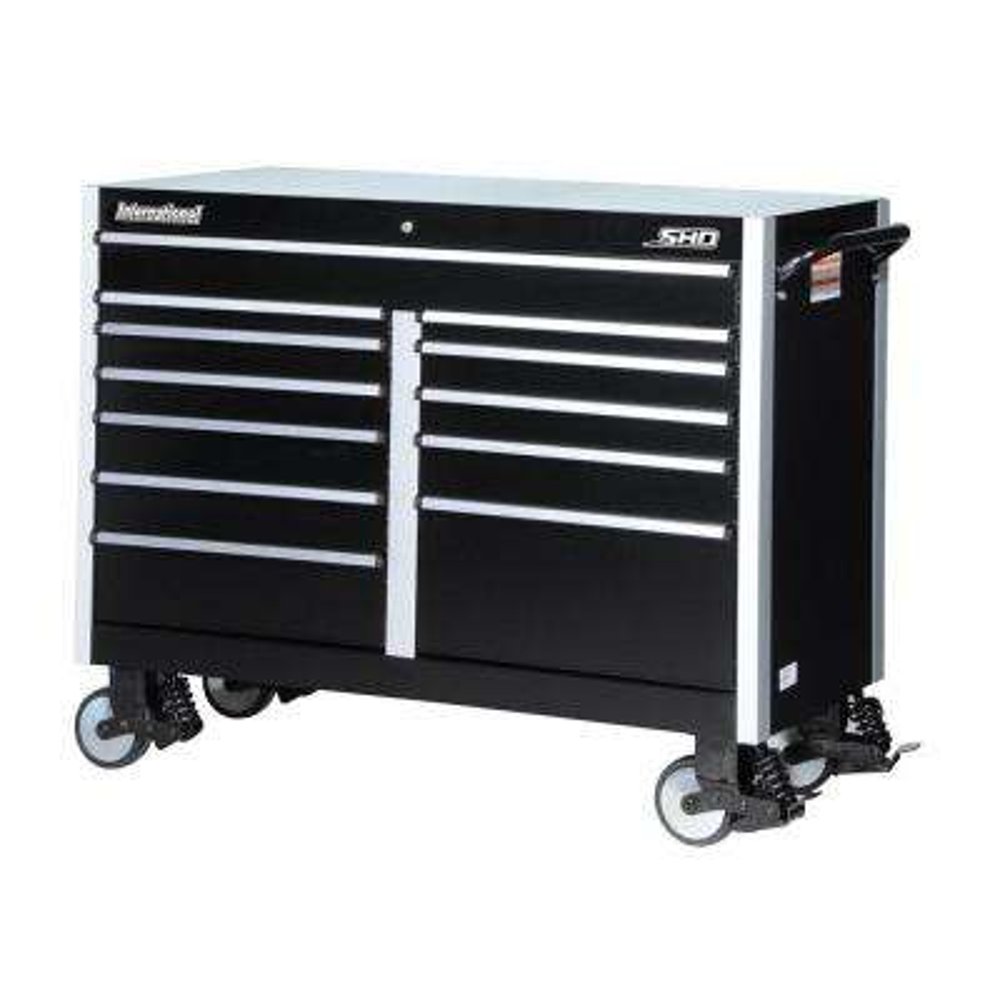 SHD Series 54 in. 12-Drawer Cabinet, Black